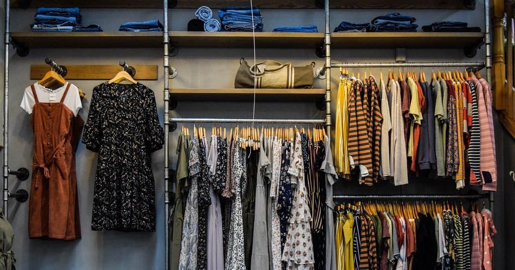 A large, tidy closet organizer.