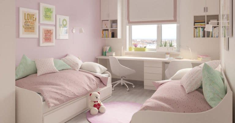 A girls' bedroom.
