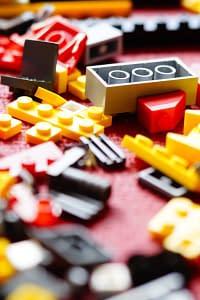 A Lego mess that needs a declutter!
